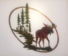 "Moose, Trees, & Mountain Oval Wildlife Scene Metal Art Excellent ""metal tree wall art hobby lobby"" info is readily available on our internet site. Outdoor Metal Wall Art, Metal Tree Wall Art, Metal Art, Tree Wall Decor, Art Decor, Art Themes, Metal Walls, Metal Working, Art Gallery"