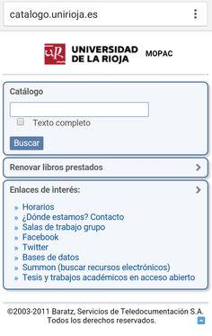 Universidad de La Rioja Texts, University, Universe, Libros