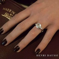 A modern twist on a classic #henridaussi #engaged #engagementrings #instaglam