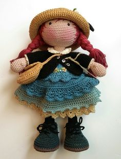 This Pin was discovered by ant Crochet Crafts, Crochet Doilies, Crochet Toys, Crochet Baby, Crochet Projects, Knit Crochet, Amigurumi Patterns, Amigurumi Doll, Doll Patterns
