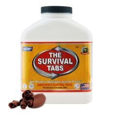 Escape Tactical Military Survival Kit Survival Food Tabs 25 Years Shelf Life (180 Tabs - Chocolate) * You can find out more details at the link of the image.