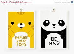 SALE 20% OFF Children Decor Good Manners Flash Cards, Kids Wall Art set of 15 in 4 x 6 , Children's Art