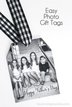 Easy Photo Gift Tags