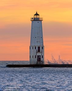 Lighthouse at Frankfort, Michigan
