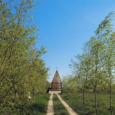 Built by Beton in Tarnow, Poland with date 2009. Images by Beton. It is a small, wooden church built on a high bank of Vistula River, in a small village of Tarnów, by a private invest...
