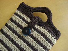 Nook Tablet or Kindle Fire, Crochet Sleeve Jacket Cover Case. $5.95, via Etsy.