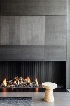 Discover the best fireplace tile ideas. Explore luxury interior designs for your home. Fireplace ceramic tile, surround ideas, design, and pictures Contemporary Fireplace Designs, Contemporary Interior Design, Modern House Design, Modern Fireplaces, Contemporary Landscape, Contemporary Apartment, Modern Contemporary House, Modern Fireplace Decor, Contemporary Building