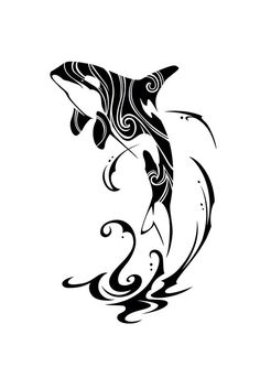 orca tattoo - Ideas for the House Orca Tattoo, Whale Tattoos, Tattoo Hals, Elephant Tattoos, Tattoo Neck, Tribal Animal Tattoos, Bat Tattoos, Painting Art, Feather Tattoos