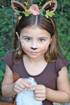 Fiona Deer ciervo diadema orejas diadema Animal venda traje inspirado accesorio/Floral orejas diadema/hermosa foto Shoot Prop/Woodland