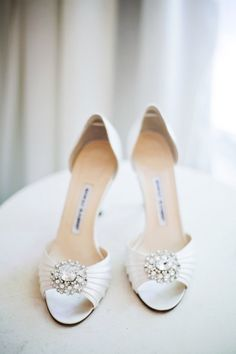 photo of wedding shoes side by side