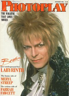 December 1986 issue of Photoplay featuring everyone's favorite goblin king on the cover. Also, the funny side of Meryl Streep and the serious side of Farah Fawcett.