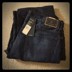 NWT! Guess Men's Relaxed Fit Jeans 36x34 New with tags! Men's relaxed for low rise straight leg Guess brand jeans in a size 36 waist by 34 inseam Guess Jeans Straight Leg