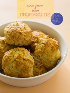 Sour Cream and Chive Drop Biscuits