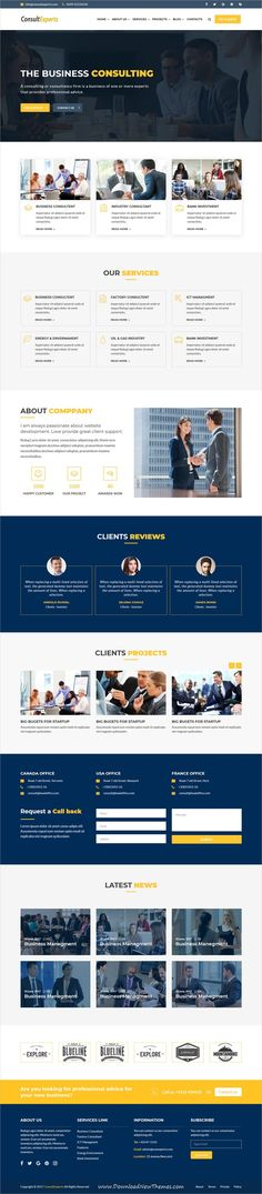 ConsultExpert is clean and modern design 2in1 responsive #bootstrap HTML #template for #consulting #business website to live preview & download click on image or Visit