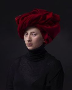 "Red Turban by Hendrik Kerstens. 2015, Archival pigment print 40""x 30"" - Edition of 10"