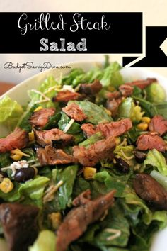 A easy salad that is packed with protein
