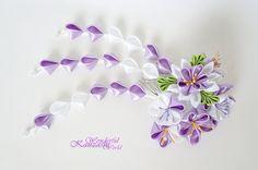 Tsumami Kanzashi Summer Garden Fabric Flower by wonderfulkanzashi, $38.00