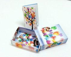 Formati speciali - Scatolina   mini notebook idea regalo bomboniere - un prodotto unico di lagalleriadellearti su DaWanda