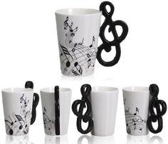 VENKON - Keramiktasse Kaffeetasse mit einem Henkel in Violinschlüssel / Notenschlüssel Design inkl. hochwertiger Geschenkbox - für Kaffe, Tee, Kakao, Milch, Wasser, etc. - 0.2l Venkon http://www.amazon.de/dp/B00I1XFWQU/ref=cm_sw_r_pi_dp_p9U-tb0DRWE3E