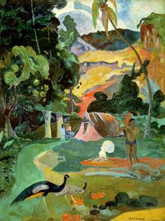 Paul Gauguin, Landscape with Peacocks, 1892, oil on canvas, 115 x 86 cm, Pushkin Museum, Moscow.