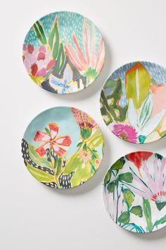 Lulie Wallace Melamine Canape Plate Set