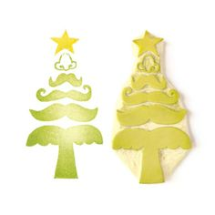Carve your own stamps for the Holidays with old linoleum tiles. Rubber Stamp  Mustache Christmas Tree  Hand Carved by creatiate, $26.00
