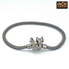 Bracelet Dragon en argent sterling plaqué par MONVATOOLondon
