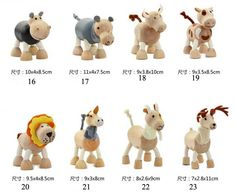 Child Wooden Figure Toys Poseable Zoo Characters Animal Dolls Puppet Dummy Set-in Action & Toy Figures from Toys & Hobbies on Aliexpress.com   Alibaba Group