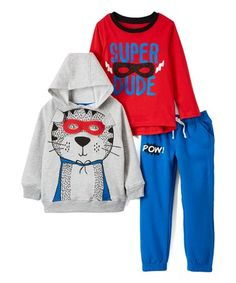 dfd16cd4e7 Take a look at this Gray Superhero Animal Hoodie - Infant   Toddler today!