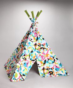 This beautiful indoor teepee is handmade from high-end designer fabric, resulting in an heirloom-quality piece the family can enjoy for generations. The lightweight design doesn't require assembly, so it's easy to set up and move to wherever fun is needed most.
