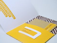 Simple Mailer Folder containing business card and mini-portfolio.    {Self Promotion by Mikenzi Jones, via Behance}