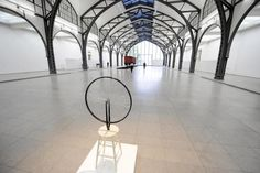 The installation 'Bicycle Wheel' by French artist Marcel Duchamps is displayed at the National Gallery 'Hamburger Bahnhof Museum für Gegenwart' in...