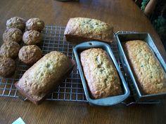 Michigan Cottage Cook: NELDA'S PINEAPPLE ZUCCHINI BREAD OR MUFFINS WITH CINNAMON AND NUTMEG