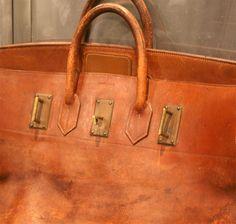fake kelly - Heritage Vintage: Hermes 55cm Toile & Vache Naturelle HAC Travel ...