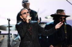 Ringo Starr performs on the Annual GRAMMY Awards on Jan. 26 in Los Angeles Grammy Awards 2014, Peter Frampton, Yoko Ono, Art Friend, John Paul, Ringo Starr, George Harrison, Paul Mccartney, John Lennon