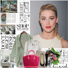 Amber Heard by mars on Polyvore featuring Alexander McQueen, Hollister Co., DANNIJO, Prada, POPbeauty, Valentino, Craftsman, Chicwish, ANNA and chicwish