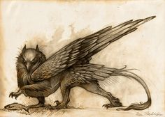 Gryphon by KatePfeilschiefter.deviantart.com on @deviantART - My note - DHC Gryphons mostly eat fish.