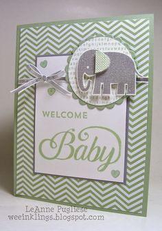 """""""Welcome Baby"""" greeting card   [LeAnne%20Pugliese%20WeeInklings%20Celebrate%20Baby%20Zoo%20Babies%20Stampin%20Up%5B4%5D.jpg]"""