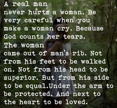 A Real Man Quote