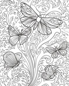http://colorings.co/adult-coloring-pages-butterflies/ #Adult, #Butterflies, #Coloring, #Pages