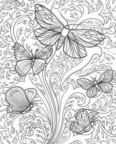 Ausmalen Erwachsene Schmetterlinge