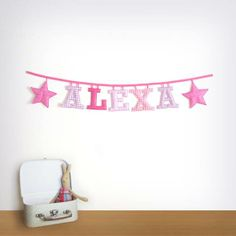 Order yours at www.loveprettygarlands.etsy.com #etsy #garlands #nursery #garland #name #babyshower #banner  #fabric #letter