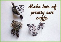 "punk projects: Make an Ear Cuff- DIY    *As my mother would say, ""And how many ears do you have?"""