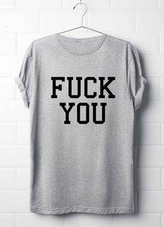 Fu**k You T-Shirt, Grunge punk T-Shirt, Rock T-Shirt, F**k You T-Shirt, Punk Rock T-Shirt, Unisex T-Shirts, F**k You Men T-Shirt by 13SameOnly on Etsy