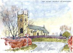 Yorkshire Church ~ sketch ~ John Edwards