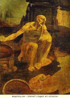 Leonardo da Vinci. St. Hieronymus. c.1480-1482. Oil on wood. Vaticano, Pinacoteca Apostolica Vaticano, Rome.