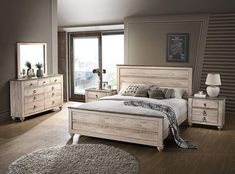 Looking for Contemporary White Wash Finish Bedroom Set Queen Beige Modern Wood 5 Piece ? Check out our picks for the Contemporary White Wash Finish Bedroom Set Queen Beige Modern Wood 5 Piece from the popular stores - all in one. White Washed Bedroom Furniture, White Bedroom Set, 5 Piece Bedroom Set, King Bedroom Sets, Bedroom Furniture Sets, White Rustic Bedroom, Rustic White, Master Bedroom, Wood Bed Design