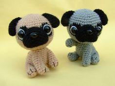 Etsy の Pug Puppy PDF Crochet Pattern by jaravee