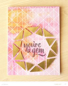 Gold Facets by jjbolton at @studio_calico - hybrid card