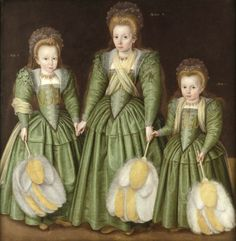 1600 The Egerton Sisters Elizabeth, Vere and Mary